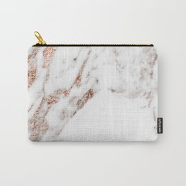 Rose gold foil marble Carry-All Pouch