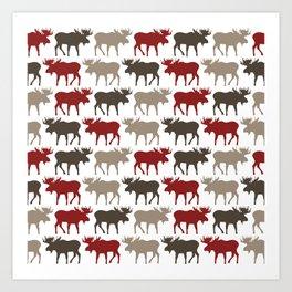 Moose Promenade Art Print