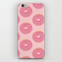 doughnut iPhone & iPod Skins featuring Doughnut by Inbeeswax