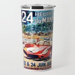 Le Mans 1962 vintage poster, Le Mans t-shirt, Le Mans poster Travel Mug