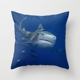 Tiger Shark 1 Throw Pillow
