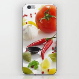 Pasta and their ingredients  iPhone Skin