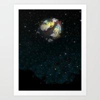 A Midnight Sky Art Print