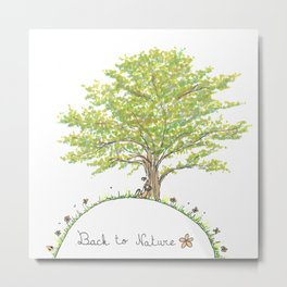 Back to nature - Sitting under a tree Metal Print