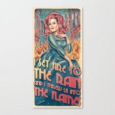 Set Fire To The Rain Canvas Print