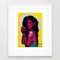 rihanna Framed Art Prints featuring RIHANNA by FA 23