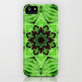 Fern and friends mandala - Maidenhair, Adiantum 567 kal 25 iPhone Case