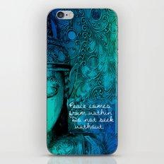 Aqua Buddha iPhone & iPod Skin