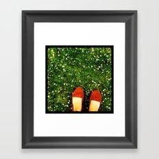 Green Green Grass Framed Art Print