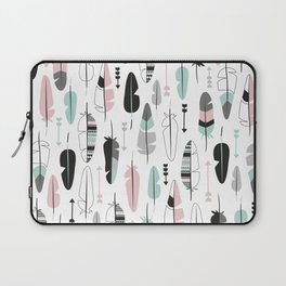 Arrows and feathers summer pattern Laptop Sleeve