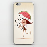 mandie manzano iPhone & iPod Skins featuring Watermelon by José Luis Guerrero