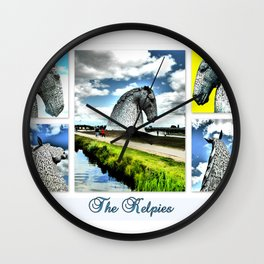 The Kelpies At The Millenium Link Wall Clock