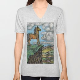 When Nature Notices You're a Little Horse Unisex V-Neck