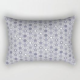 Grey Geo Mini Flower Rectangular Pillow