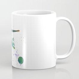 Woman soccer player 03 in watercolor Coffee Mug