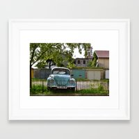 volkswagon Framed Art Prints featuring Vintage Volkswagon by JessOli