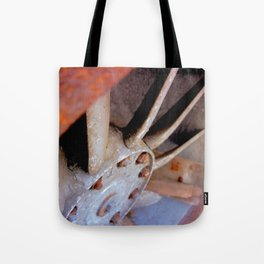 RUSTED TURBINE. Tote Bag