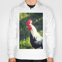 rooster Hoodies featuring Rooster by KimberosePhotography
