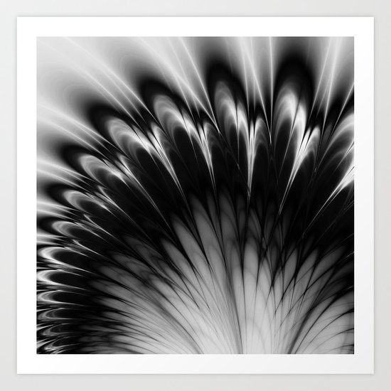 Black and White Elegance Art Print