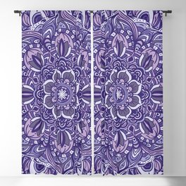 Great Purple Mandala Blackout Curtain