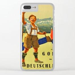 Vintage poster - Golf in Deutschland Clear iPhone Case