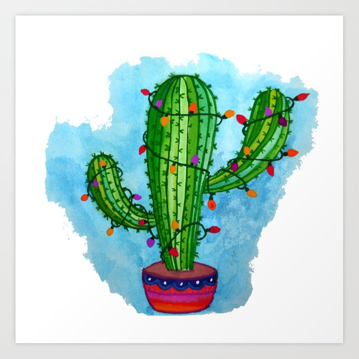 Christmas Cactus.Christmas Cactus Art Print By Ohlapislazuli