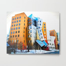 Ray Maria Stata Center - Frank Gehry Massachusetts Institute Metal Print