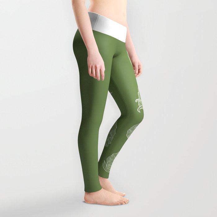 Cotton in Green Leggings