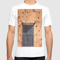 Door In Marrakesh Mens Fitted Tee White MEDIUM