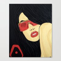 aaliyah Canvas Prints featuring AAliyah by TheArtGoon