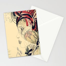 flame flower Stationery Cards