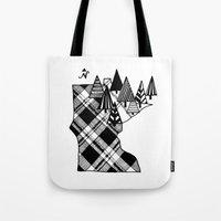 minnesota Tote Bags featuring Minnesota Love by cmbringle