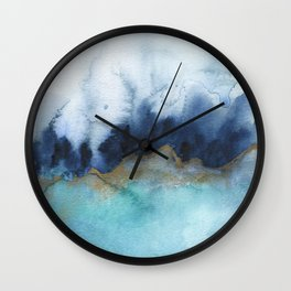 Mystic abstract watercolor Wall Clock