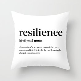 Resilience Definition Throw Pillow