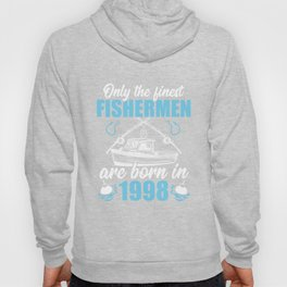 Gift for 23 Years Old 23rd Birthday Fishing Fisherman 1998 Hoody