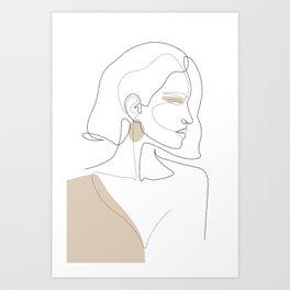Latte Girl Art Print