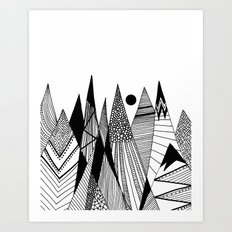 Patterns in the mountains II Art Print