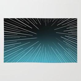 Circular Linear Aqua Rug