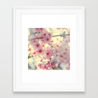 cherry blossom Framed Art Prints featuring cherry blossom by Bunny Noir