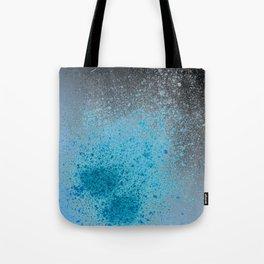 Blue and Black Spray Paint Splatter Tote Bag