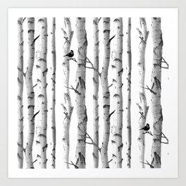 Trees Trunk Design Art Print