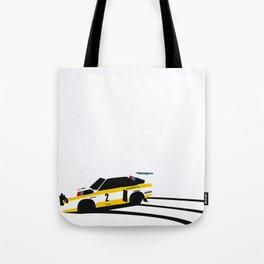 Quattro Slide Rally Car Tote Bag