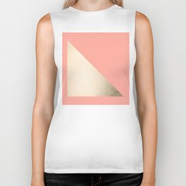Simply Shadow in White Gold Sands on Salmon Pink Biker Tank