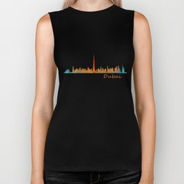 Dubai, emirates, City Cityscape Skyline watercolor art v1 Biker Tank