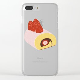 Cake Roll in Pink Clear iPhone Case