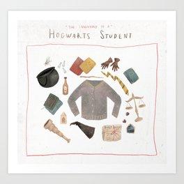Student Items Art Print
