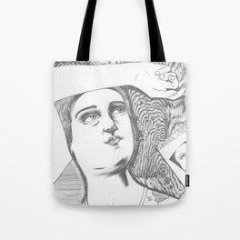 La fille et le ciel Tote Bag