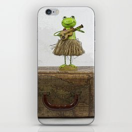 Travelin' Frog iPhone Skin
