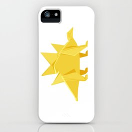 Origami Stegosaurus Flavum iPhone Case