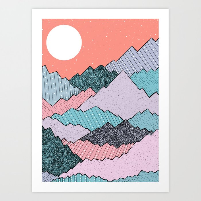 Mountain Tones Art Print